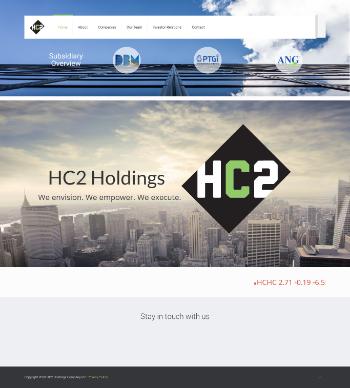 HC2 Holdings, Inc. Website Screenshot