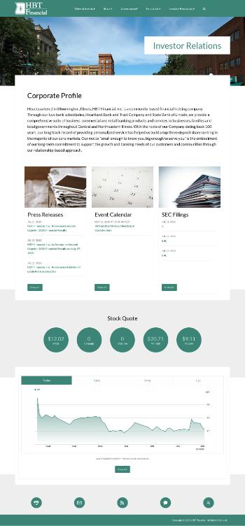 HBT Financial, Inc. Website Screenshot