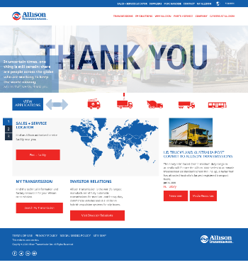 Allison Transmission Holdings, Inc. Website Screenshot