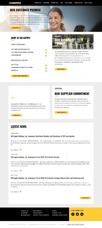 HD Supply Holdings, Inc. Website Screenshot