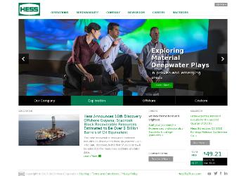 Hess Corporation Website Screenshot