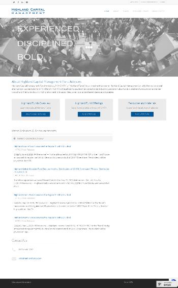 Highland Funds I - Highland Income Fund Website Screenshot
