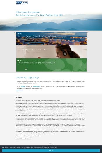 Miller/Howard High Income Equity Fund Website Screenshot