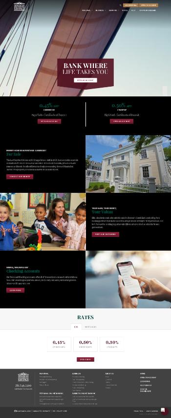 Hingham Institution for Savings Website Screenshot
