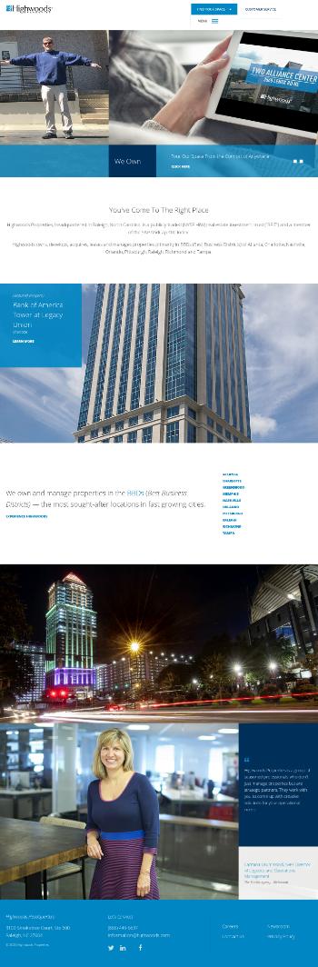 Highwoods Properties, Inc. Website Screenshot