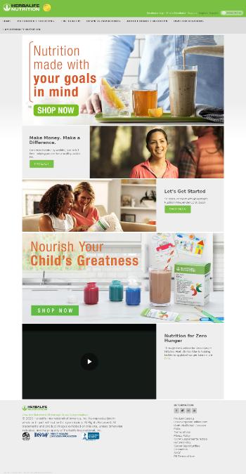Herbalife Nutrition Ltd. Website Screenshot
