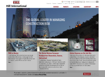 Hill International, Inc. Website Screenshot