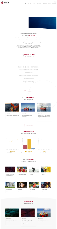 Helix Energy Solutions Group, Inc. Website Screenshot