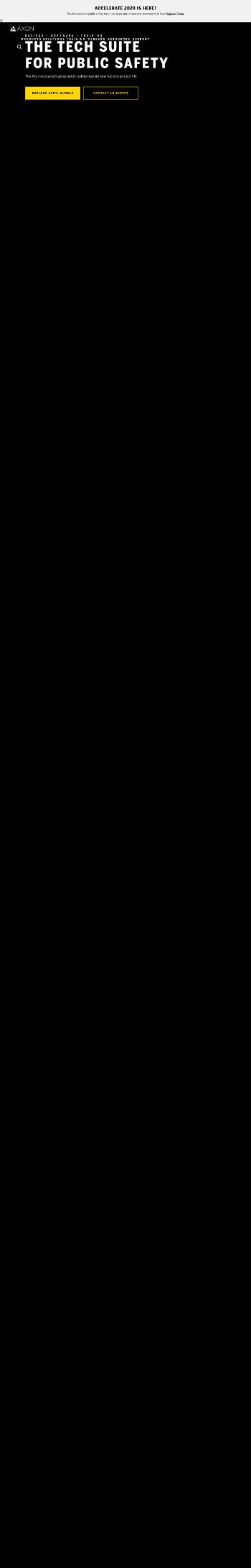 Axon Enterprise, Inc. Website Screenshot