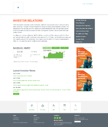 HMS Holdings Corp. Website Screenshot