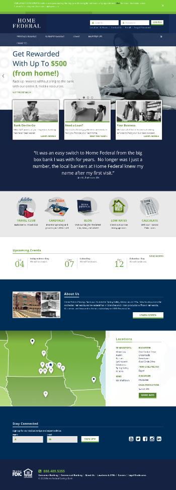 HMN Financial, Inc. Website Screenshot