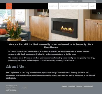 HNI Corporation Website Screenshot