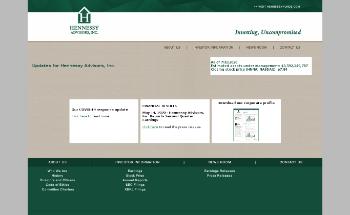 Hennessy Advisors, Inc. Website Screenshot