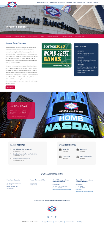 Home Bancshares, Inc. (Conway, AR) Website Screenshot