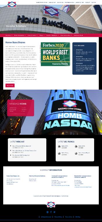 Home Bancshares, Inc. (Conway, AR) Website Screenshot