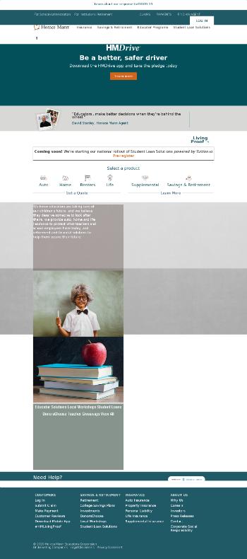 Horace Mann Educators Corporation Website Screenshot