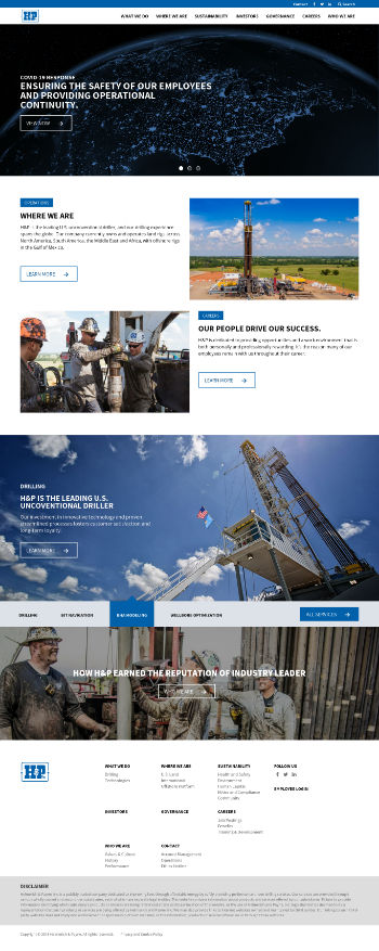 Helmerich & Payne, Inc. Website Screenshot