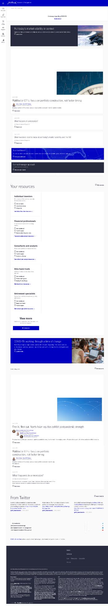 John Hancock Preferred Income Fund Website Screenshot