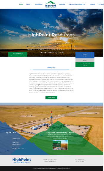 HighPoint Resources Corporation Website Screenshot