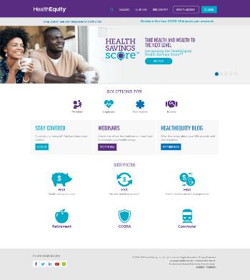 HealthEquity, Inc. Website Screenshot