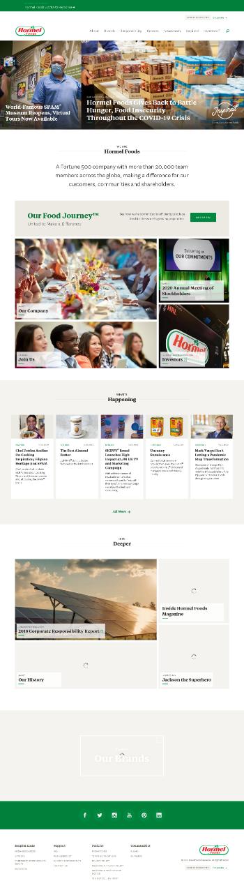 Hormel Foods Corporation Website Screenshot