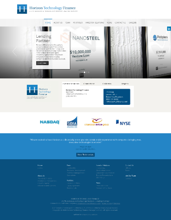 Horizon Technology Finance Corporation Website Screenshot