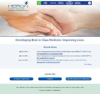 Heron Therapeutics, Inc. Website Screenshot