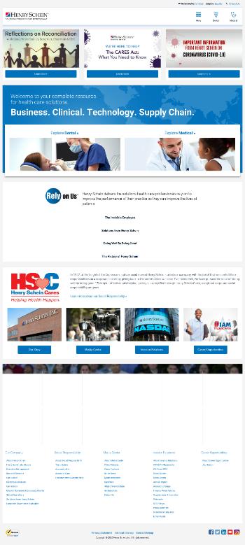 Henry Schein, Inc. Website Screenshot