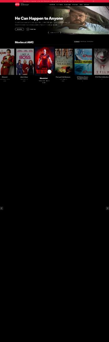 AMC Entertainment Holdings, Inc. Website Screenshot