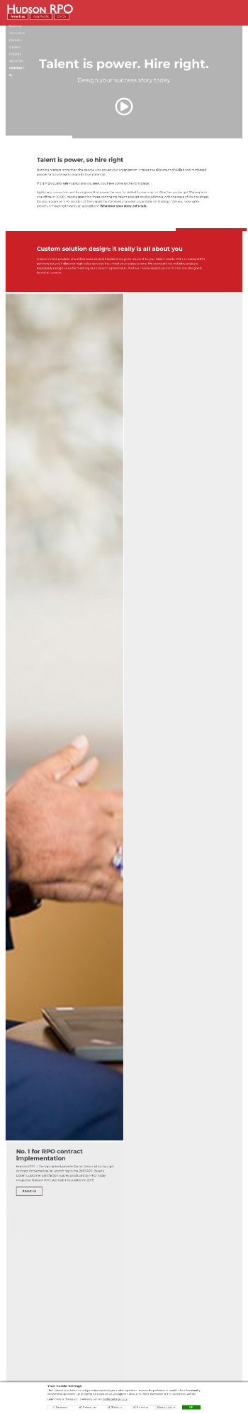 Hudson Global, Inc. Website Screenshot