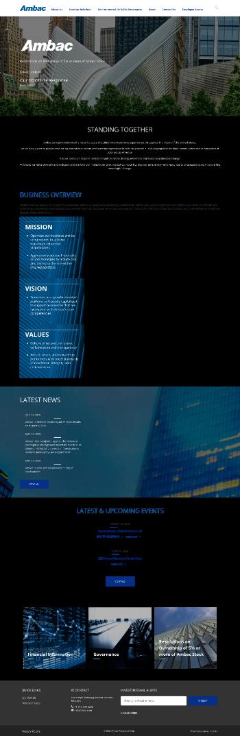 Ambac Financial Group, Inc. Website Screenshot