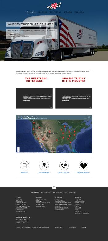 Heartland Express, Inc. Website Screenshot