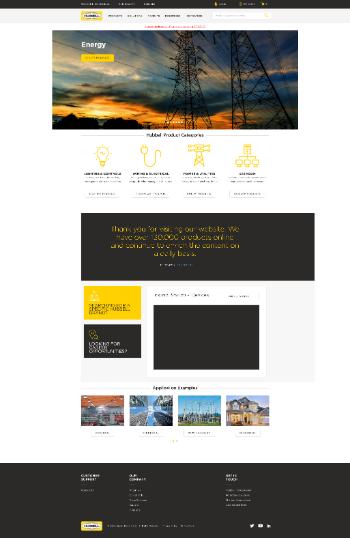Hubbell Incorporated Website Screenshot