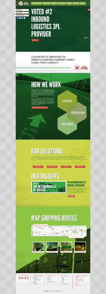 Hub Group, Inc. Website Screenshot