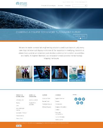 Applied Materials, Inc. Website Screenshot