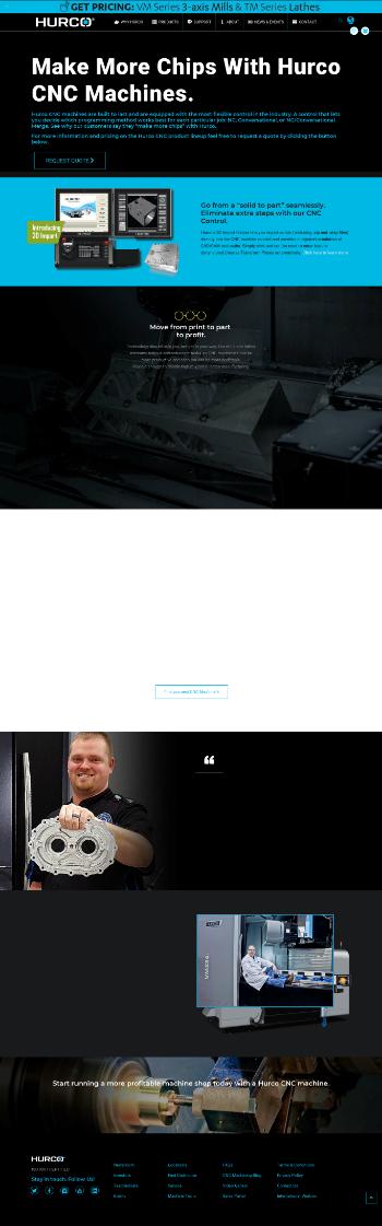 Hurco Companies, Inc. Website Screenshot
