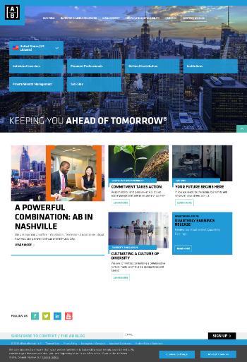 AllianceBernstein Holding L.P. Website Screenshot