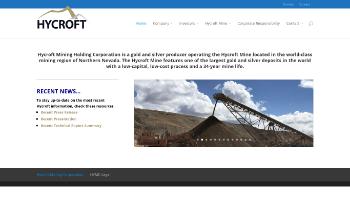 Hycroft Mining Holding Corporation Website Screenshot