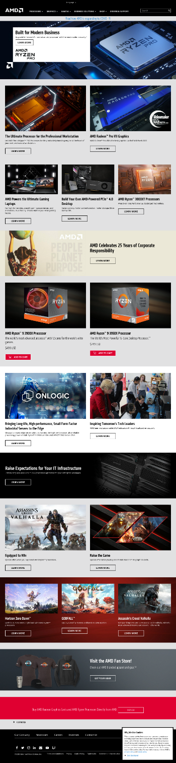 Advanced Micro Devices, Inc. Website Screenshot