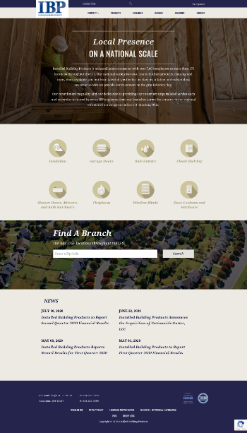 Installed Building Products, Inc. Website Screenshot