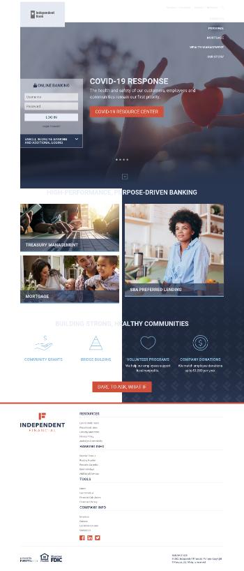 Independent Bank Group, Inc. Website Screenshot