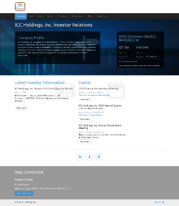 ICC Holdings, Inc. Website Screenshot