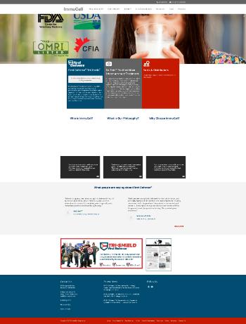 ImmuCell Corporation Website Screenshot