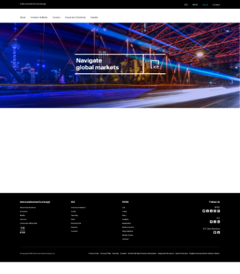 Intercontinental Exchange, Inc. Website Screenshot