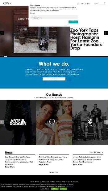 Iconix Brand Group, Inc. Website Screenshot