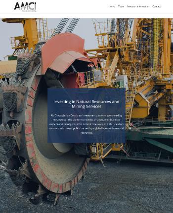 AMCI Acquisition Corp. Website Screenshot