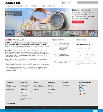 AMETEK, Inc. Website Screenshot