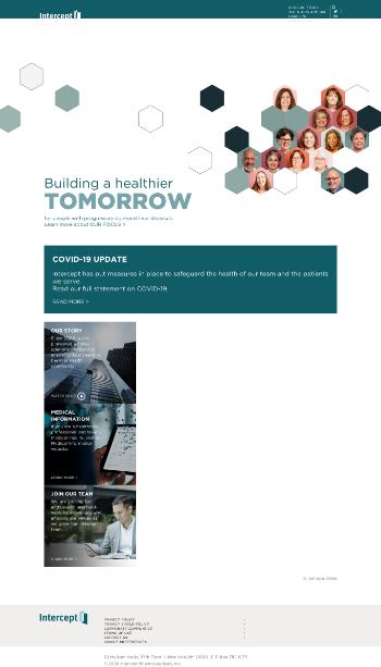 Intercept Pharmaceuticals, Inc. Website Screenshot