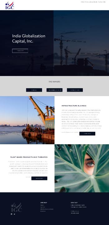 India Globalization Capital, Inc. Website Screenshot