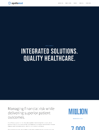 Apollo Medical Holdings, Inc. Website Screenshot